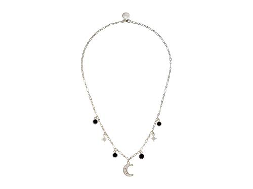 """Alex and Ani Moon & Crystal 18"""" Delicate Necklace Shiny Silver One Size"""