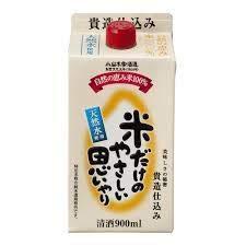小山本家酒造 米だけのやさしい思いやり 900mlパック 6本入りケース単位 普通酒 埼玉県