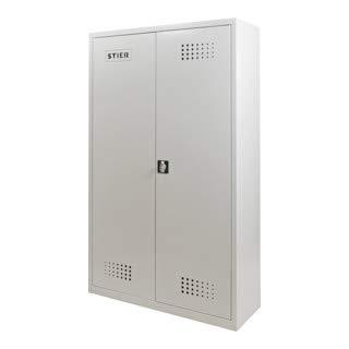 STIER Umweltschrank, mit 4 verzinkten Wannenböden, 1950x1200x420mm, abschließbar, für Gefahrstoffe, robuste Bauweise