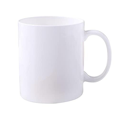 GQQ Disney Pure White China Copa de Agua de Cerámica Publicitaria Taza de Té de Porcelana Del Ósea Del Regalo de Minimalio Taza/Blanco / 9.8 * 8.5