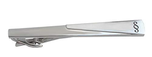 Unbekannt Symbol § Krawattennadel Krawattenklammer mit Gravur Paragraph silbern matt glänzend ca. 7 cm inkl. Geschenkbox