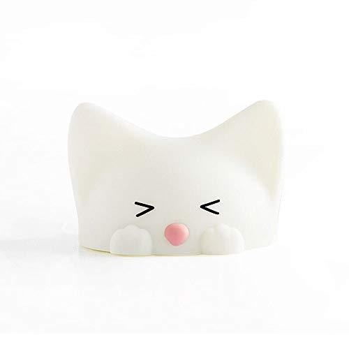 Noche Infantil Colorido color claro creativo gato 1.5w lámpara led USB recargable suave silicona luces de ojo protección portátil táctil sensor noche luz para niños bebé dormitorio niños regalos niñas