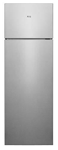 AEG RDB428E1AX - Nevera congelador LowFrost de dos puertas, capacidad 201 l, altura 1610 mm, gris (inoxidable)
