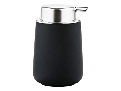Zone Denmark Nova Seifenspender für Flüssigseife, Porzellan mit Soft Touch-Beschichtung, schwarz