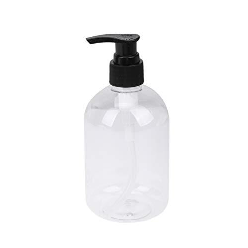 Toyvian Leere Pumpflaschen, 350 ml, klare Shampoo-Flaschen, tragbare Reiseflaschen, Toilettenartikel, nachfüllbare Behälter, auslaufsicher, Creme-Flasche für Lotion, Seife, Creme, 5 Stück