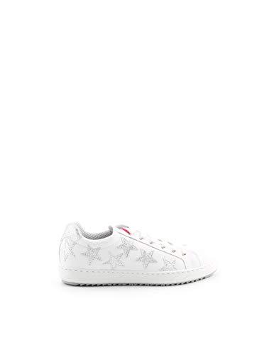 Vitamina Tu Sneakers Bassa in Pelle Bianca 402 Stelline (39 EU)