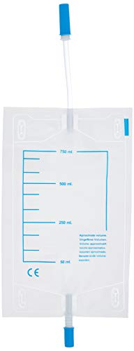 GIMA 28707 Sacca Urine da Gamba Tubo con Valvola Antireflusso, 750cc, 10 cm Diametro, 30 Pezzi