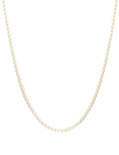 DEGUISE TOI - Collier Perles Blanches - Taille Unique