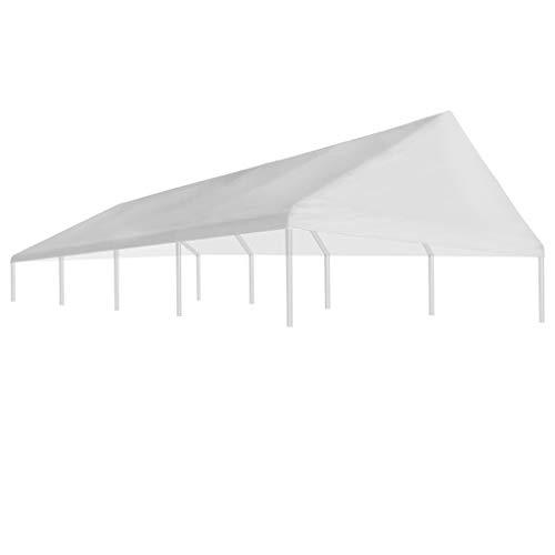 gazebo da giardino 10x5 Festnight Tetto per Tenda Gazebo da Giardino Esterno Bianco 4 x 8 m/5 x 10 m/6 x 12 m