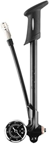 FCPLLTR Bomba de Aire de Bicicleta con maniombrador de presión Inflador de Manguera en Miniatura Manguera Manguito Tenedor Bicicleta Bomba de Aire portátil (Color: Negro) (Color : Black)
