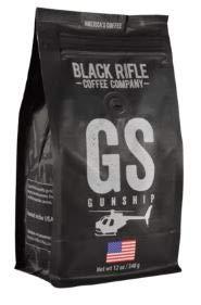 Black Rifle Coffee Company Ground Coffee 12oz Bag (Gunship Ground Coffee)