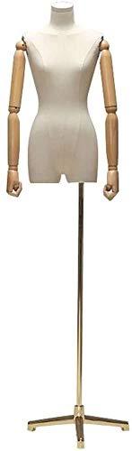 JinSui Mujer Maniqui Regulable Costura Maniqui Maniquí Femenino de Sastre a la Moda para Estudiantes, diseño de Busto con Pierna Dividida, Utilizado para Soporte de exhibición de Ropa, maniquí Fem