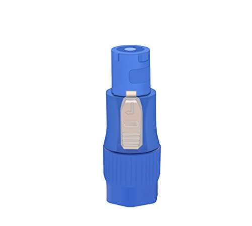 GOUJI Liupin Store Connettore di powercon Impermeabile 1pc / Spina di Alimentazione dell'aviazione, 25 0V AC/DC 20A, NAC3FCA e NAC3FCB Ritardante di Fiamma, CE & Rohs. (Color : Blue, Pins : 3Pins)