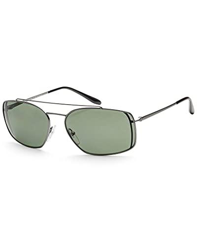 Prada 0PR 64VS Gafas de sol, Matte Gunmetal, 62 para Hombre