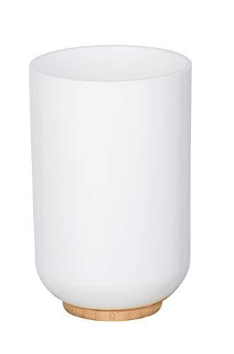 Wenko 23346100 Gobelet, Plastique, Bambou, 7,2 x 7,2 x 10,8 cm