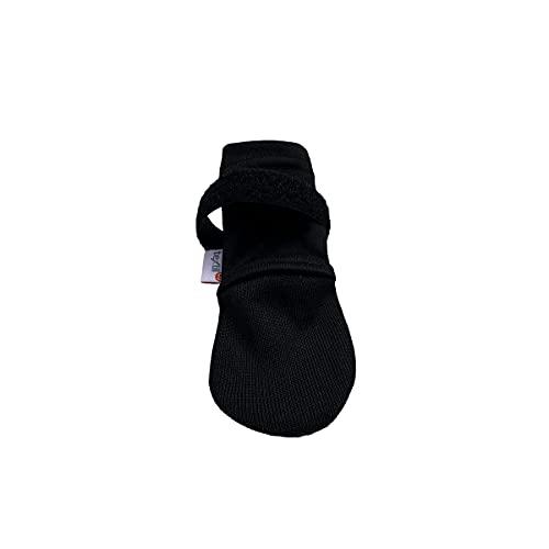 textilCu | Calcetín para Perros Antimicrobianos | Color Negro y Velcro Ajustable (Calcetín Protector, M)