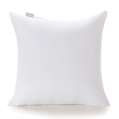 Acanva Decorative Square Throw Pillow Inserts Hypoallergenic Form Stuffer Cushion Sham Filler, 28x28, White