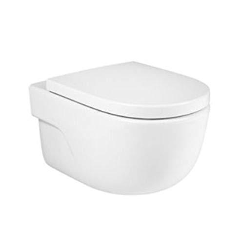 Taza para inodoro de la serie Meridian Rimless de salida horizontal con tapa y asiento, 36 x 40 x 56 centímetros, color blanco (Referencia: 346355000)