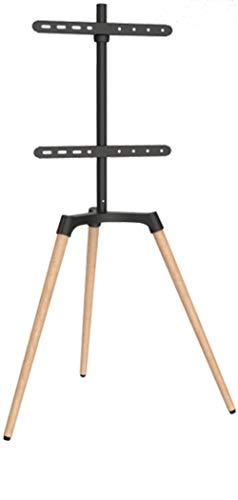 Staffelei/Bodenstativ für Flachbildschirme für Bildschirme 42\'\' - 65\' (107-165 cm), Belastung bis 35 kg, Farbe: schwarz/Buche Hell, dunkel TV Halter