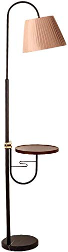 MY1MEY Standleuchte Home mall- Stehlampe, moderner Stil Stehlampe mit Holzschale und Marmorsockel für Wohnzimmer Schlafzimmer Arbeitszimmer 167cm (Color : Color#1)