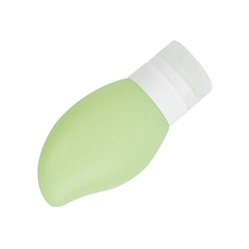 chiwanji Soft Silicone Rellenable Travel Empty Lotion Jabón Champú Maquillaje Botella 48ml - Verde