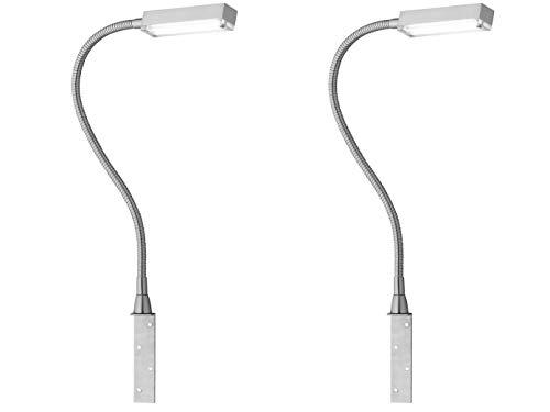 2er Set LED Leselampen & Bettleuchten zum Anschrauben, dimmbar per Gestensteuerung