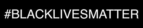 Aufkleber #BLACKLIVESMATTER 10x2cm / 20x4cm / 40x8cm #gegenrasissmus, schwarz/weiß, Größe: 40x8cm