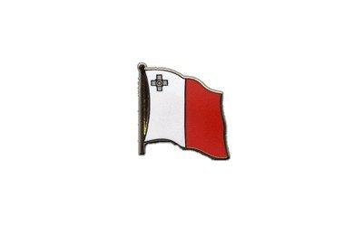 Flaggen-Pin/Anstecker Malta vergoldet