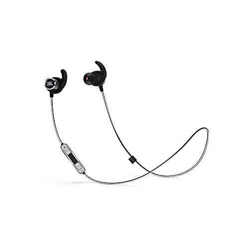 JBL Reflect Mini 2.0, in-Ear Wireless Sport Headphone with 3-Button Mic/Remote - Black