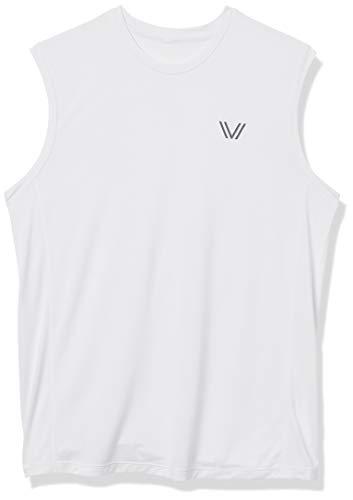 Amazon-Marke: Peak Velocity Herren VXE-T-Shirt, ärmellos, schnelltrocknend, Multi-Fit, Weiß (White), US S (EU S)
