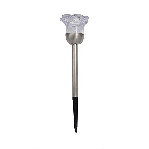 CLJ-LJ Luz solar de jardín para el hogar con luz solar impermeable LED al aire libre de luz decorativa de pie de la lámpara de la rosa de