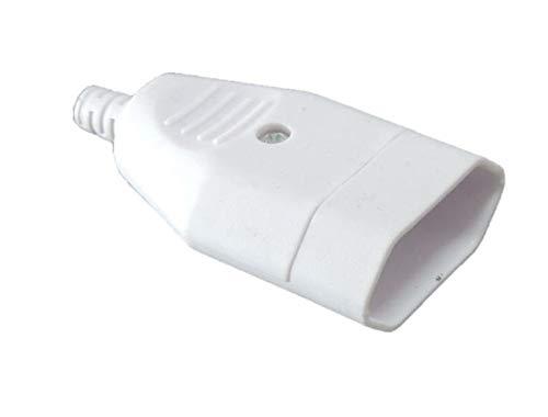 Unbekannt 5 x Eurokupplung weiß Flachstecker Hülse 230Volt