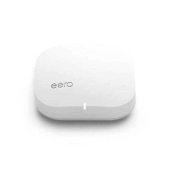 Amazon eero Pro mesh WiFi router 1 eero Pro router/extender - The Amazon eero Pro mesh router replaces your traditional WiFi router. A single eero Pro is a perfect start for any home and can be paired with another eero Pro or eero Beacon to quickly add coverage as needed. eero Pro is backwards compatible with 1st generation eero routers. Pro-grade WiFi - With the most intelligent mesh WiFi technology and powerful hardware, the eero Pro features tri-band technology making it 2x as fast as the original eero router. With two gigabit Ethernet ports, easily connect your eero Pro to your favorite devices or additional eero Pro's for the fastest in-home speeds. Cutting-edge WiFi - Unlike common wireless routers and access points, eero Pro automatically updates overnight so you always have the latest security and features.