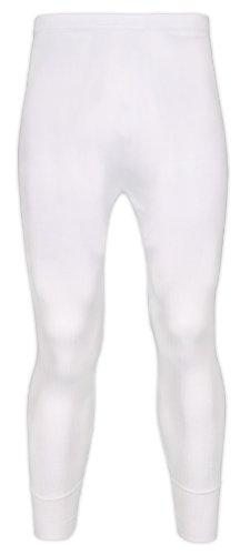 Socks Uwear Eurotshirts - Herren Lange Unterhose Thermo Unterwäsche Warme Leggings - Weiß, L - W36/39