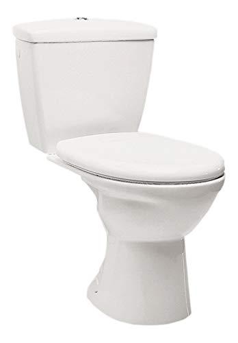 Stand-WC Kombination / Abgang senkrecht / Weiß / Inkl. Spülkasten und WC-Sitz