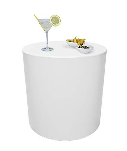 Grandecoracion.com Mesa, Taburete, puf, Modelo Sundara, Color Blanco