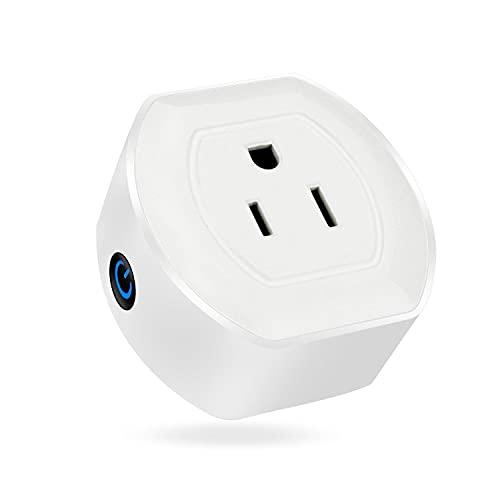 Zay Luay Luci 10A Controllo vocale Wi-Fi Inteligente Noi Plug Timer Socket Funziona con Amazon Alexa AC100-240V. (Color : Three Light Colors Without Remote)