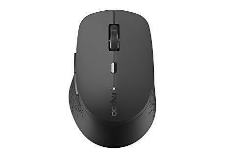 Rapoo M300 Silent kabellose Maus, Bluetooth und Wireless (2.4 GHz) via USB, Multi-Mode, 1600 DPI, leise Tasten, dunkelgrau