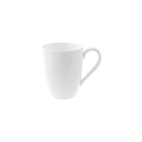 Villeroy & Boch Royal Kaffeebecher, 350 ml, Premium Bone Porzellan, Weiß