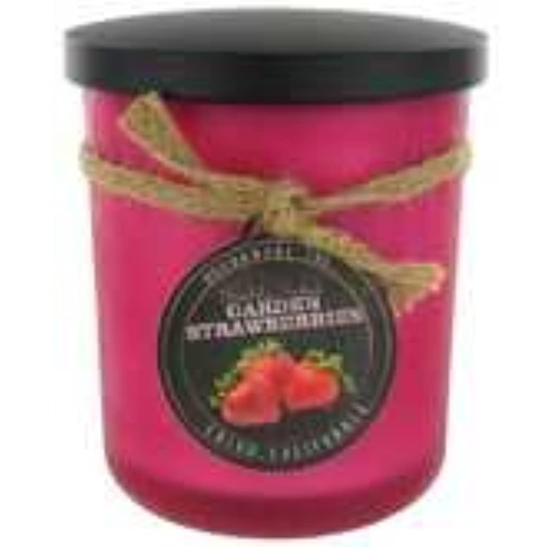 首謀者区別硬化するStrawberry ScentedレッドFrosted Jar Candle?–?15オンス