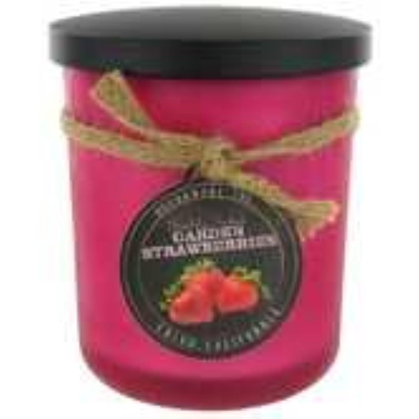 無関心感嘆セットするStrawberry ScentedレッドFrosted Jar Candle?–?15オンス