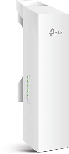 TP-Link N300 Long Range Outdoor WiFi Extender | Point to Point Wireless Bridge | 2.4GHz, 300Mbps, 9dBi, 5km+ | Passive PoE Powered w/ Free PoE Injector | TDMA | Pharos Control (CPE210)