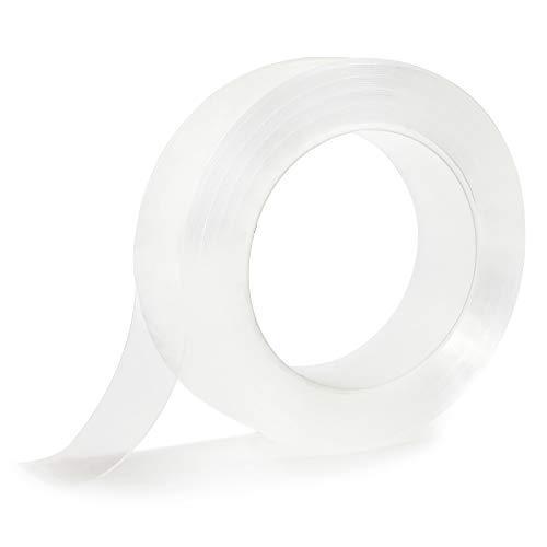Homid Clear Caulk Strip for Bathtub, Self Adhesive Waterproof Anti-Mildew Sealing Caulking Tape, Edge Protector, Transparent Sealant Trim for Kitchen Sink Bathroom Shower Toilet (1.2 Inch x 33 FT)