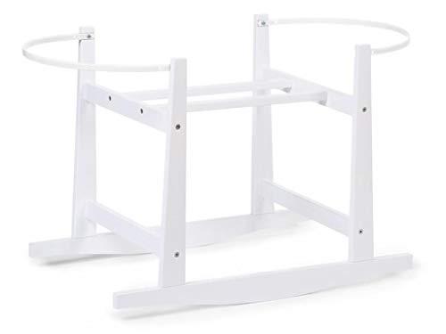 ChiLDHOME - Supporto a dondolo per cestini, in legno, colore: Bianco