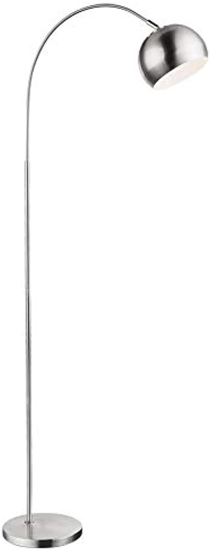 Bogen Steh Leuchte dimmbar FERNBEDIENUNG Chrom Stand Lampe dimmbar im Set inkl. RGB LED Leuchtmittel