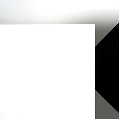 Acrylglas Platte weiß gedeckt, Lichtdurchlässigkeit 3%, Maße 25 x 25 x 0,3 cm