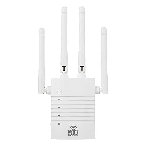 Amplificador WLAN 1200Mbps 5GHz 2.4GHz Repetidor WLAN de doble banda Extensor de rango WiFi Amplificador de señal inalámbrico Amplificador de Internet con repetidor de modo AP, enrutador WiFi compatib