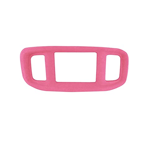 Accesorios Decorations for Car Sinside for Dodge Charger 2016-2021 Suede Navigation Panel Car Interior Frame Sticker Accessories (Color : Pink)