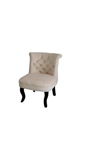 HTI-Line Französischer Sessel Antoinette Barockstil Sessel Vintage Polstersessel Relaxsessel Wohnzimmer Lehnstuhl Französischer Sessel Relaxsessel Beige