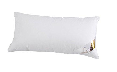 Böhmerwald Luxus Kopfkissen, 100 % Daunen, Füllgewicht: 300 g, Stützkomfort: extra weich, 40 x 80 cm